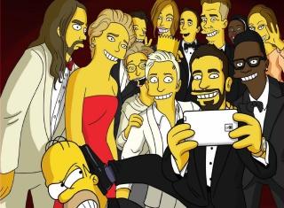 Simpsons Oscar Selfie - Obrázkek zdarma pro Samsung Galaxy A3