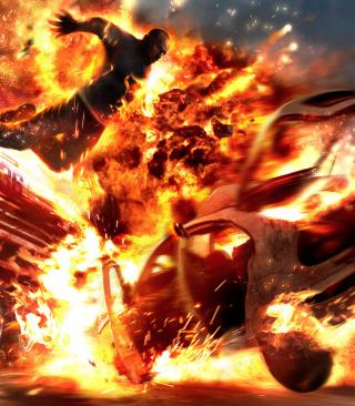 Car Crash Explosion - Obrázkek zdarma pro 640x960