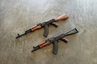 AK 74 Kalashnikov Assault Rifle Wallpaper for Android, iPhone and iPad