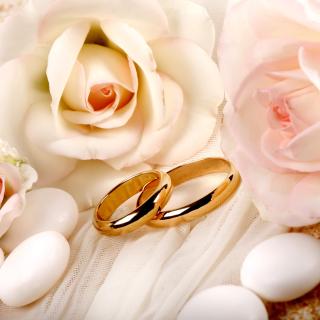 Roses and Wedding Rings - Obrázkek zdarma pro 320x320