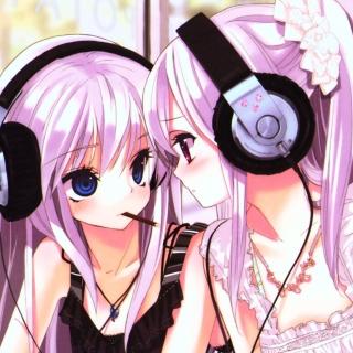 Anime Girl in Headphones - Obrázkek zdarma pro 2048x2048