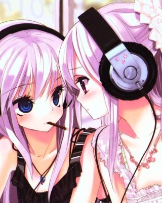 Anime Girl in Headphones - Obrázkek zdarma pro 352x416