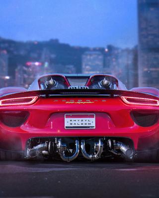 Porsche 918 Spyder Red - Obrázkek zdarma pro Nokia Asha 310