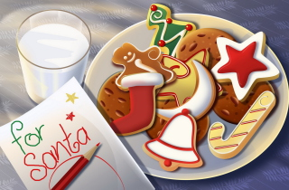 Sweets For Santa Background for Android, iPhone and iPad