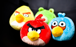 Free Angry Birds Plush Toy Picture for Android, iPhone and iPad