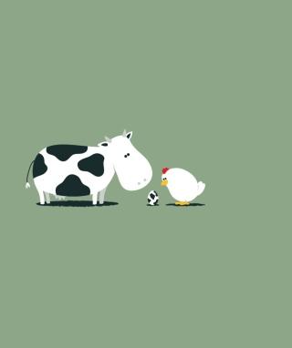 Funny Cow Egg - Obrázkek zdarma pro Nokia Lumia 505
