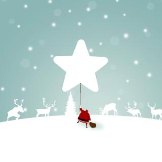 Santa Claus with Reindeer - Obrázkek zdarma pro 1024x1024