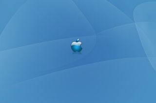 Apple Blue Logo Picture for Android, iPhone and iPad