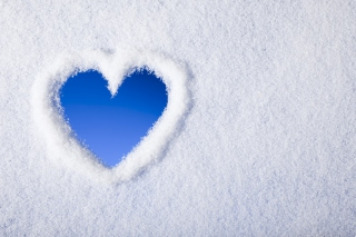 Winter Heart Background for Android, iPhone and iPad