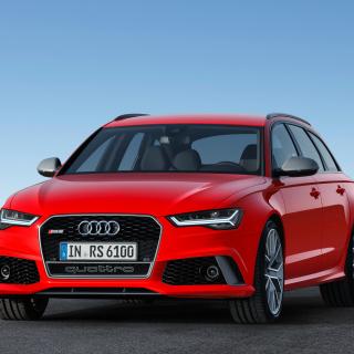 2016 Audi RS6 Avant Red - Obrázkek zdarma pro iPad Air