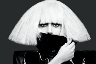 Lady Gaga Black And White - Obrázkek zdarma pro Samsung Galaxy S3