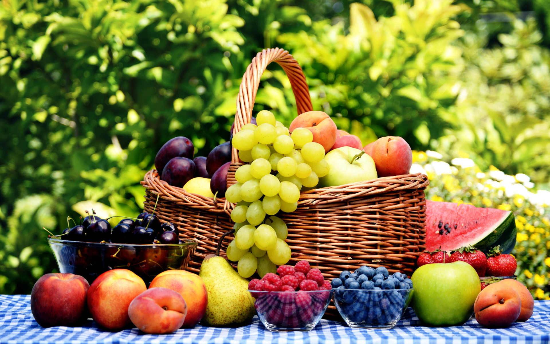 Organic Fruit Gift Basket Wallpaper For Widescreen Desktop