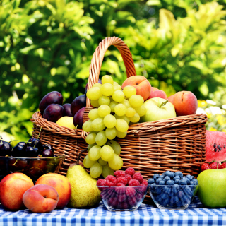 Organic Fruit Gift Basket - Obrázkek zdarma pro 208x208