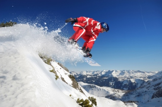 Snowboard in Whistler - Blackcomb 1 Wallpaper for Android, iPhone and iPad