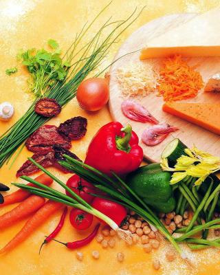Still life of vegetables, cheese and eggs - Obrázkek zdarma pro 768x1280