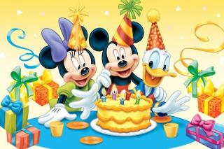 Mickey Mouse Birthday - Obrázkek zdarma pro Nokia Asha 205