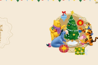 Winnie The Pooh Christmas Wallpaper for Android, iPhone and iPad