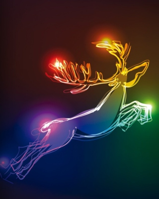Lighted Christmas Deer - Obrázkek zdarma pro Nokia X7