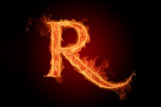 Fire Alphabet Letter R sfondi gratuiti per cellulari Android, iPhone, iPad e desktop