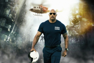 Dwayne Johnson Policeman Background for Android, iPhone and iPad