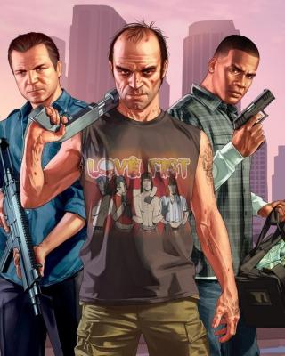 Grand Theft Auto V Band - Obrázkek zdarma pro Nokia Asha 305