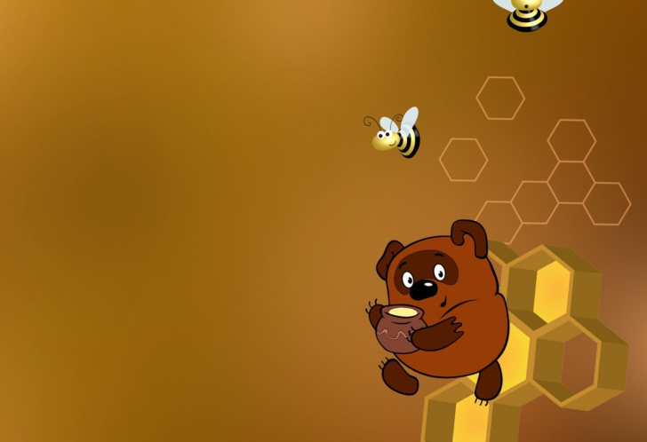 Winnie The Pooh With Honey wallpaper