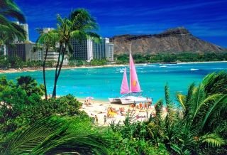 Free Waikiki Oahu Hawaii Picture for Android, iPhone and iPad