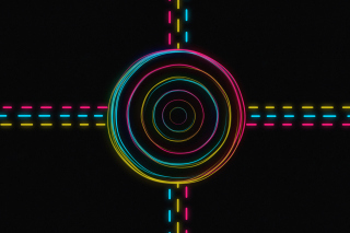 Hypnotic Neon Lights Wallpaper for Android, iPhone and iPad