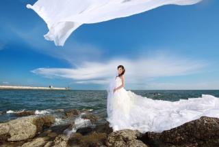 Cute Asian Girl Bride - Obrázkek zdarma pro Android 480x800