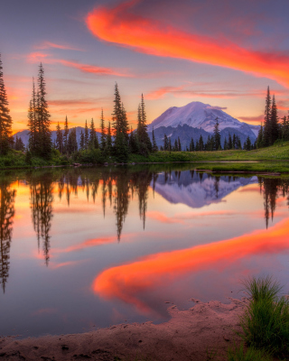 Emerald Lake, Carcross, Yukon - Obrázkek zdarma pro 132x176