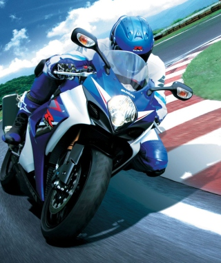 Moto GP Suzuki - Obrázkek zdarma pro Nokia 300 Asha