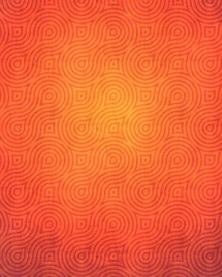 Orange Abstract Pattern - Obrázkek zdarma pro Nokia Asha 202