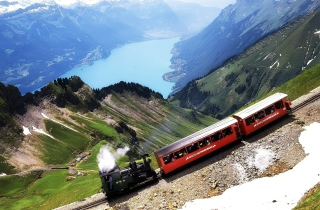Old Switzerland Train Background for Android, iPhone and iPad