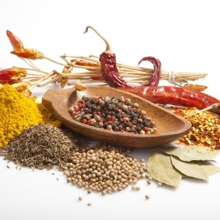 Spices and black pepper - Obrázkek zdarma pro 208x208