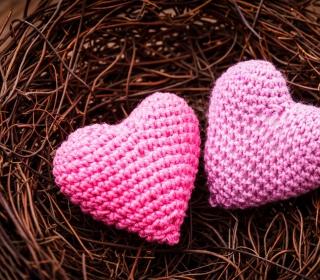 Knitted Pink Heart - Obrázkek zdarma pro 320x320