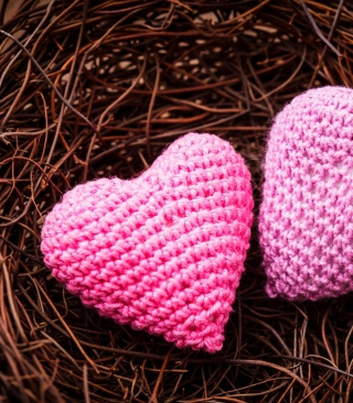 Knitted Pink Heart - Obrázkek zdarma pro Nokia Asha 502
