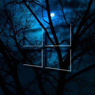 Windows 10 HD Moon Night - Obrázkek zdarma pro 1024x1024