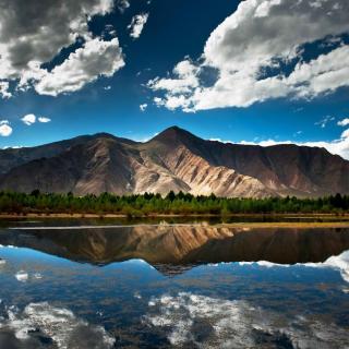 Mountain Lake In Chile - Obrázkek zdarma pro 208x208