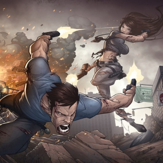 Game Art Shootout by Patrick Brown - Obrázkek zdarma pro 208x208