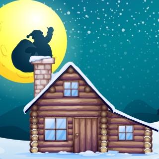 It's Santa's Night - Obrázkek zdarma pro 1024x1024