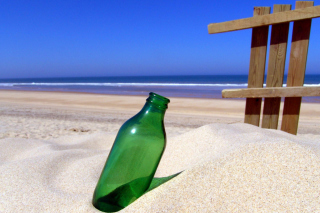 Bottle Beach Wallpaper for Android, iPhone and iPad