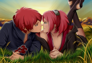 Sasori And Sakura Background for Android, iPhone and iPad
