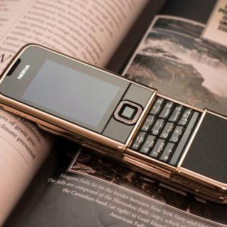 Nokia 8800 Gold Arte Rose - Obrázkek zdarma pro iPad