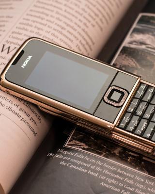 Nokia 8800 Gold Arte Rose - Obrázkek zdarma pro Nokia C-5 5MP