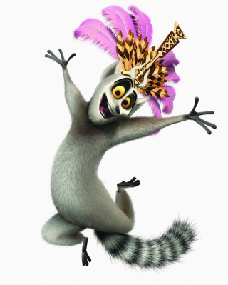 Lemur King From Madagascar - Obrázkek zdarma pro Nokia X3-02
