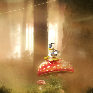 Mickey Mouse and Donald Duck - Obrázkek zdarma pro iPad Air