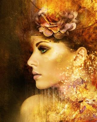 Artistic Face Wallpaper for 480x854