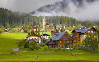 Gosau Village - Austria Picture for Android, iPhone and iPad