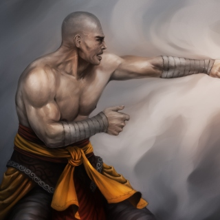 Warrior Monk by Lucas Torquato de Resende - Obrázkek zdarma pro iPad