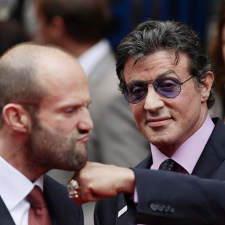 Jason Statham and Sylvester Stallone - Obrázkek zdarma pro iPad mini 2
